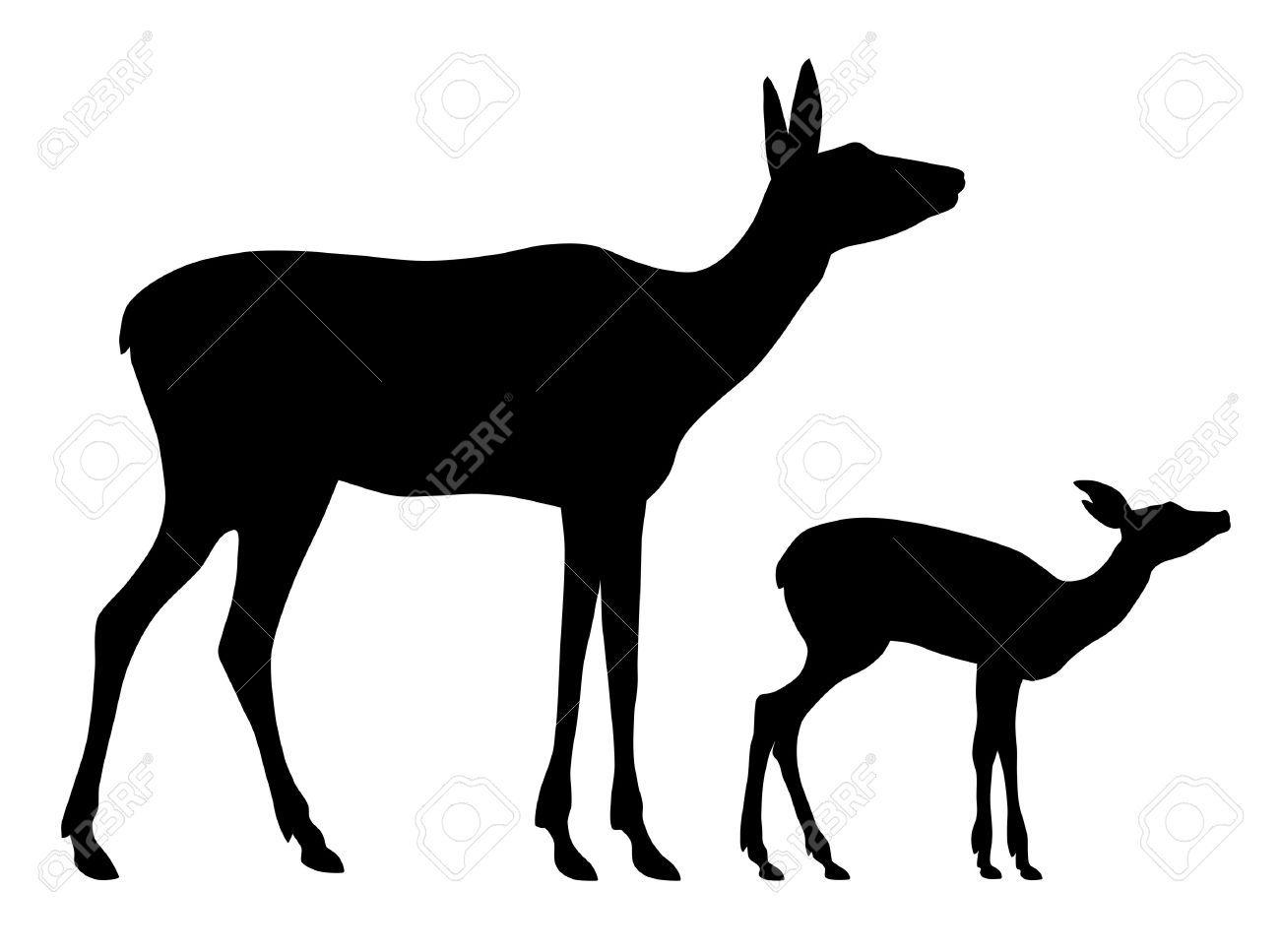 1300x967 Silhouette Of Deer