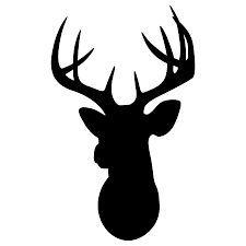 225x225 Simple Deer Head Outline