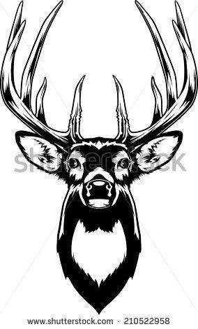 284x470 30 Best Deers Images On Deer, Deer Head Silhouette