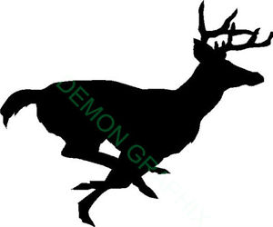 300x250 Running Buck Vinyl Decalsticker Whitetail Deer Hunting Archery