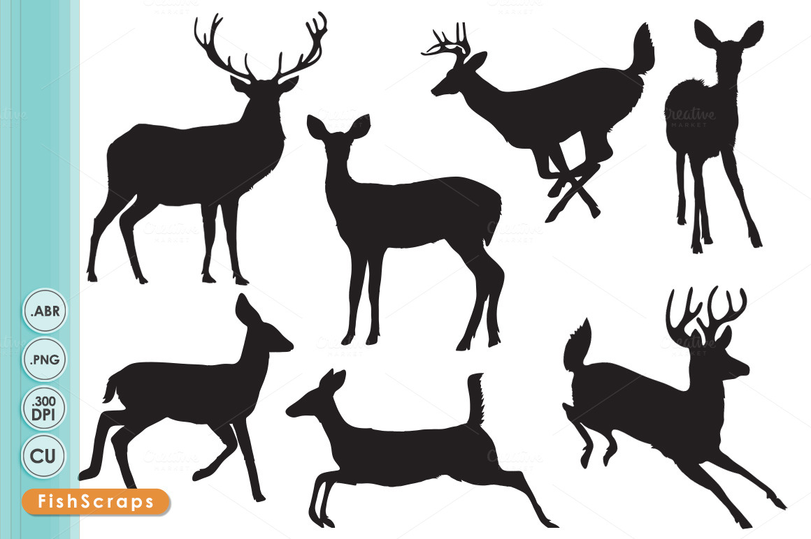 1160x772 Whitetail Deer Jumping Clipart