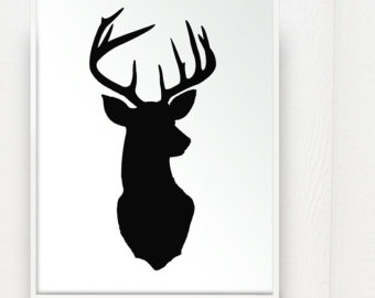 340x270 Brown Deer Head Silhouette Clipart Collection
