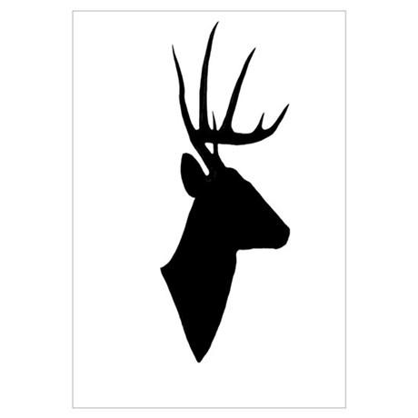 460x460 Deer Silhouette Wall Decal