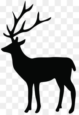 260x380 Reindeer Silhouette White Tailed Deer Clip Art