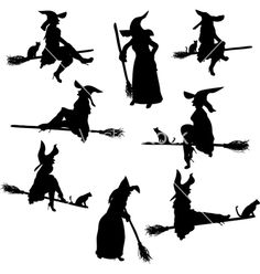 236x248 Halloween Witch Flying On A Broomstick Vector Graphics