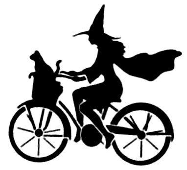 382x347 Clip Art Witch On Bicycle