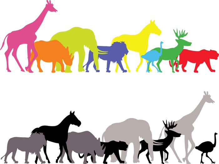 700x525 Wild Animal Silhouette Wall Mural We Live To Change