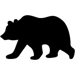 263x262 Grizzly Bear Silhouette Bear Silhouette