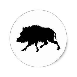 307x307 Wild Boar Stickers Zazzle