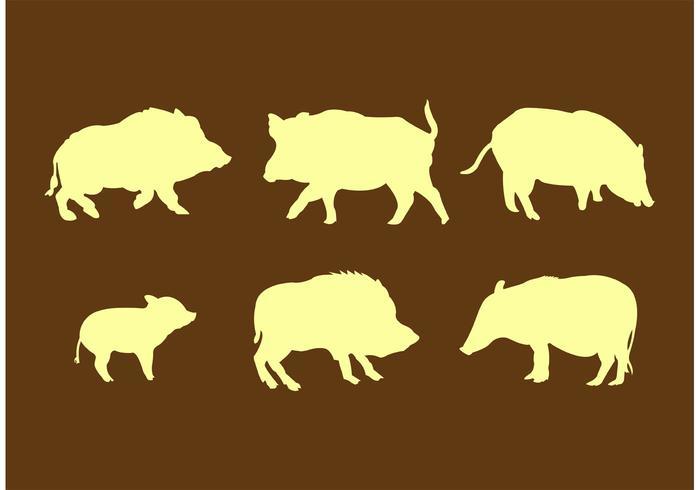 700x490 Wild Hog Silhouettes