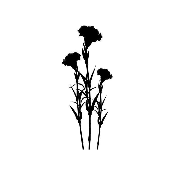 Wild Flower Silhouette