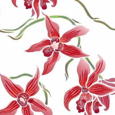 400x400 Large Flowering Moth Orchid Stencil Theme Pack. 2 Sheet Stencil