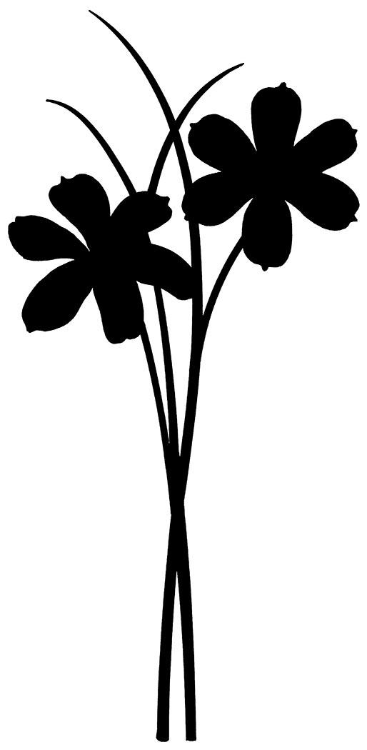 Wildflower Silhouette at GetDrawings | Free download