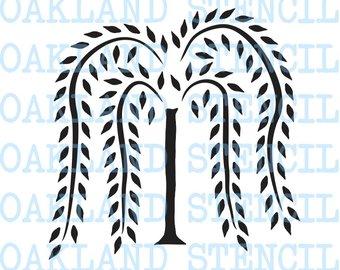 340x270 Primitive Willow Tree Stencil 4 22 Tall