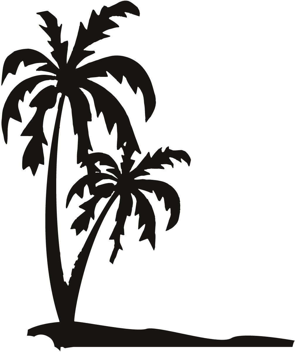 1007x1200 Palm Tree Clipart Black And White To Color Collection