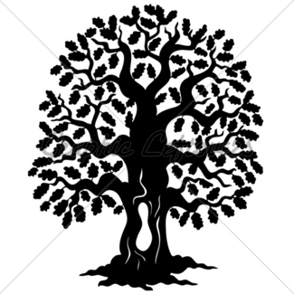 325x325 Spring Tree Silhouette Gl Stock Images