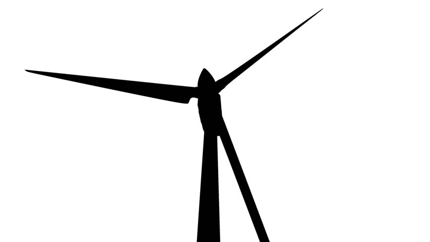 852x480 Wind Turbine Silhouette Seamless Loop Stock Footage Video 1673083