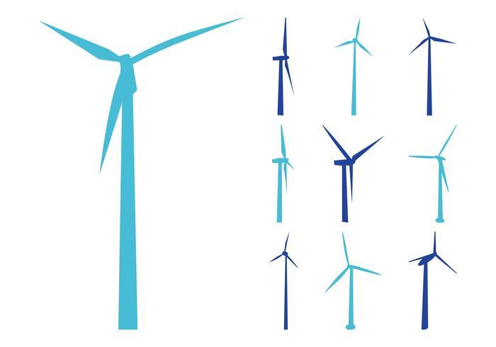 700x490 Wind Turbines Silhouettes