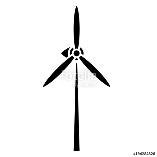 500x500 Wind Turbine Icon Image Stock Image And Royalty Free Vector Files