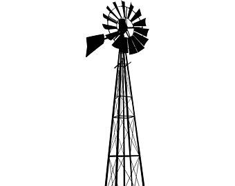 340x270 Windmill Silhouette Etsy