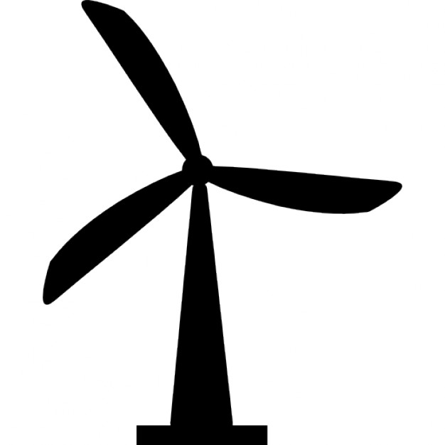 Wind Turbine Silhouette At Getdrawings Free For Personal Use