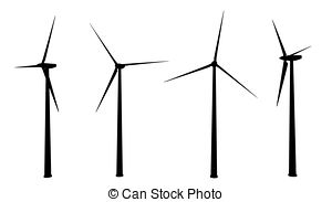 300x183 Silhouette Of Wind Turbines Generating Electricity On Night