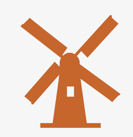 537x552 Windmill, Windmill Silhouette, Pastoral Windmill Png And Vector