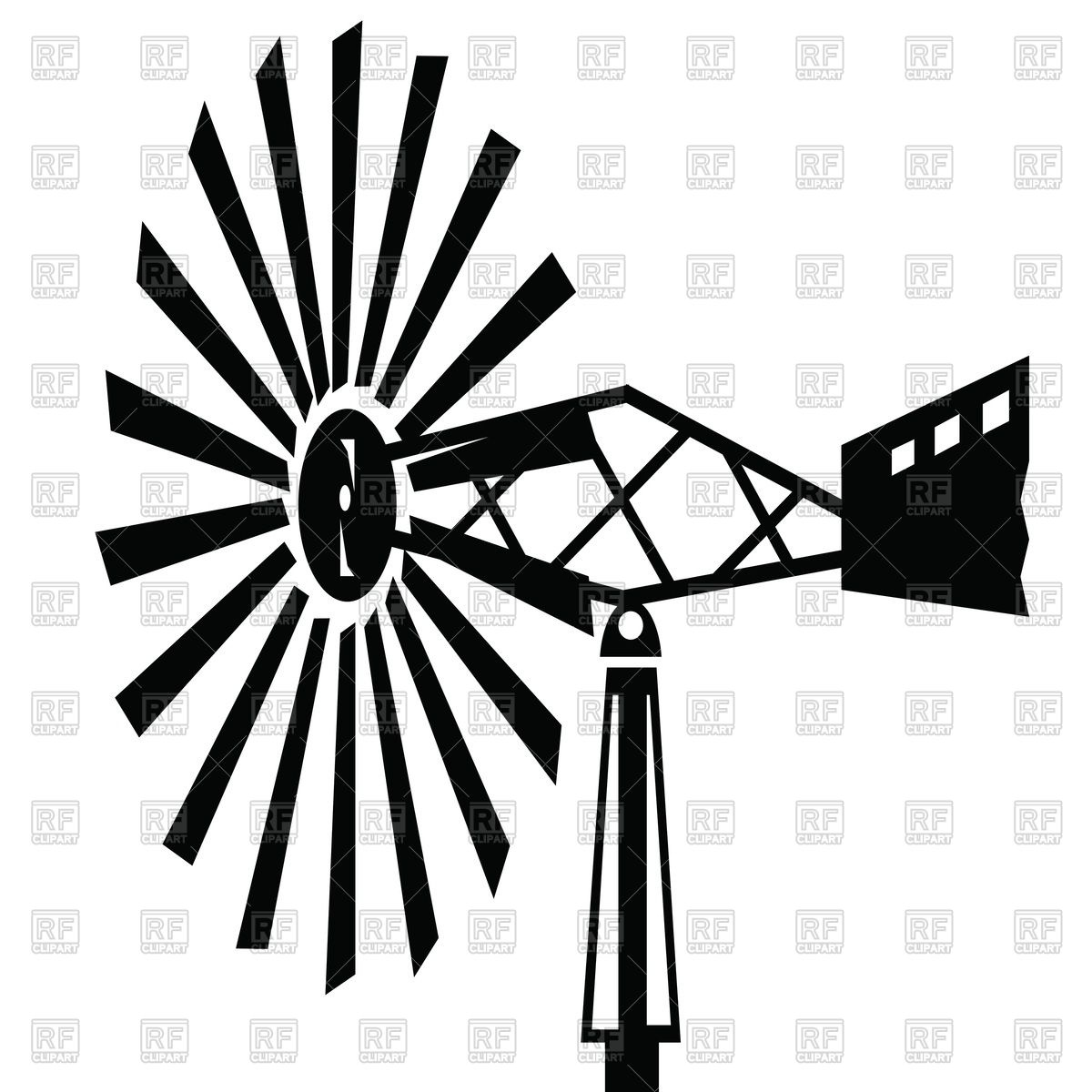1200x1200 Silhouettes Old Windmill Royalty Free Vector Clip Art Image