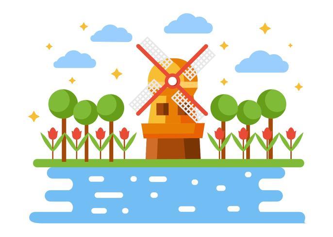 686x490 Windmill Free Vector Art