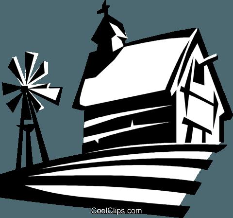 480x448 Barn Clipart Windmill
