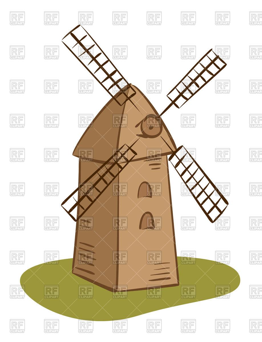 919x1200 Cartoon Rural Windmill Royalty Free Vector Clip Art Image