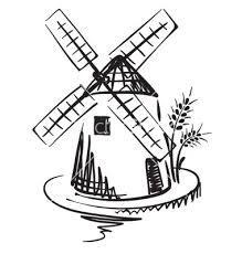 219x230 Free Windmill Drawings