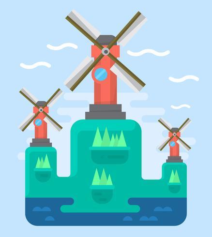 438x490 Flat Windmills