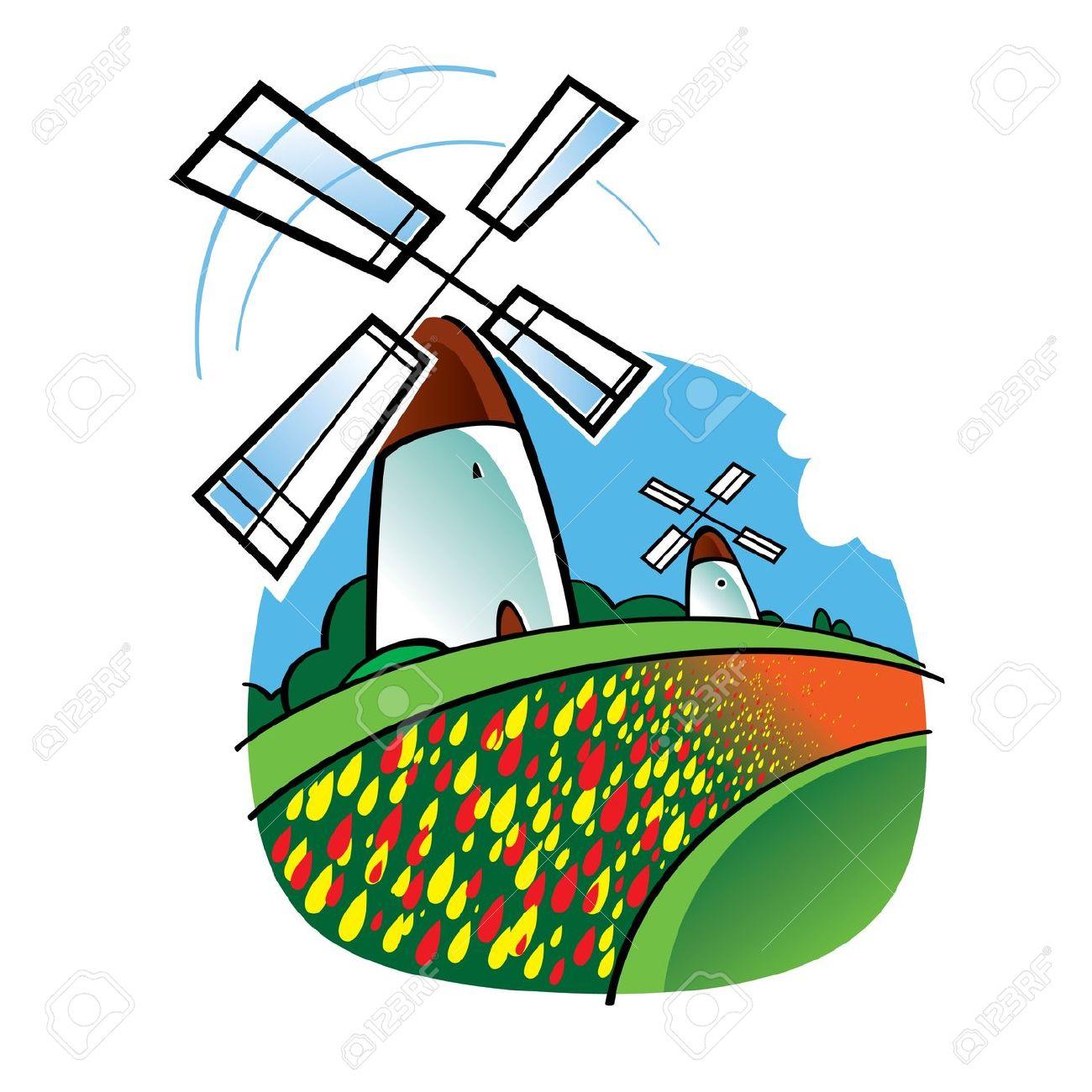 1300x1300 Mill Clipart Dutch Windmill