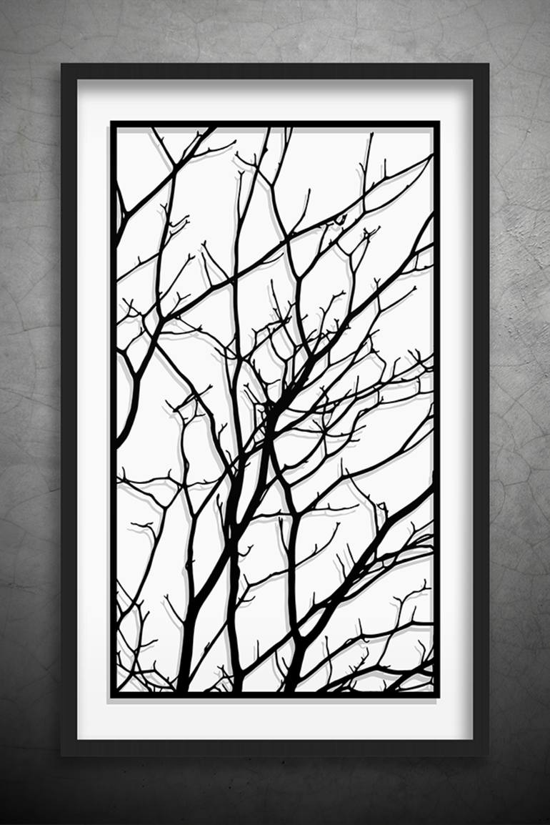 770x1154 Saatchi Art Tree Branches Original Paper Cut Art, Black And White