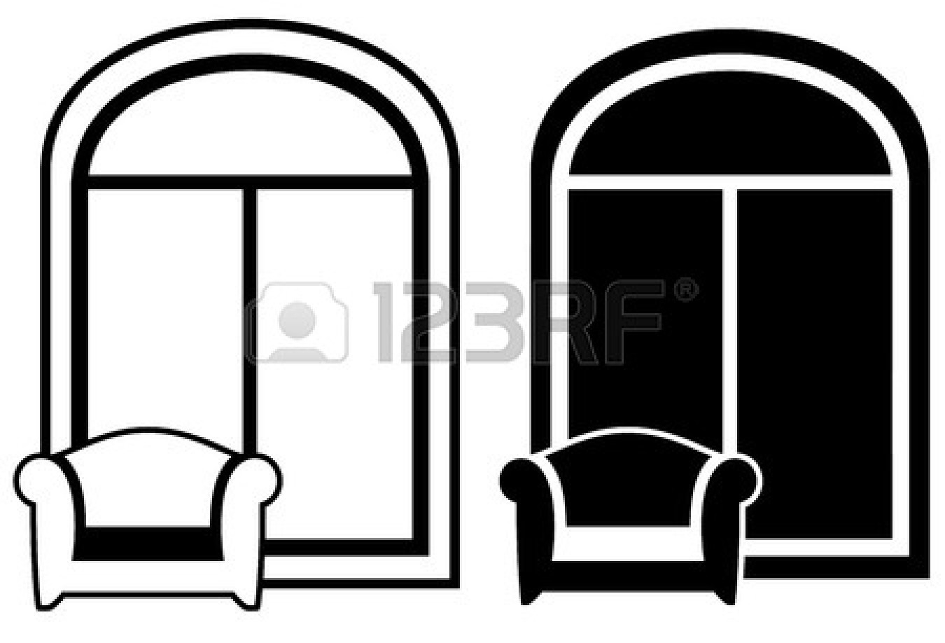 1350x918 Window Black And White Clipart Panda