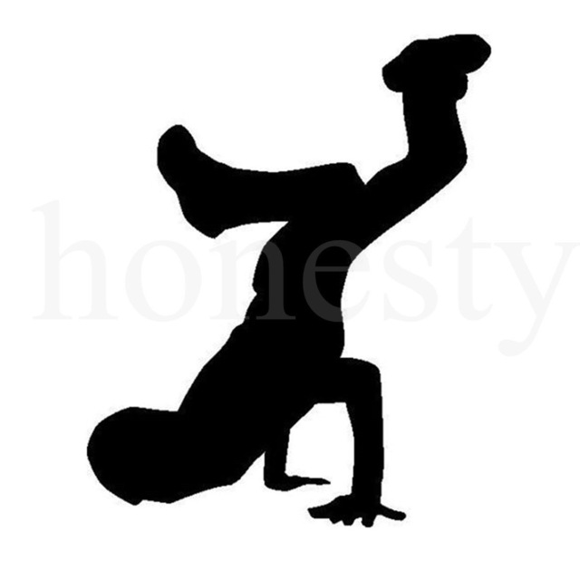 640x640 Hiphop Crazy Energetic Young Dancer Silhouette Car Truck Laptop