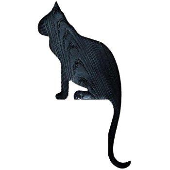 350x350 Silhouette Black Cat Rester Door And Window Topper