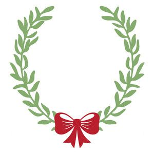 300x300 Holiday Wreath Silhouette Design, Holiday Wreaths And Silhouettes