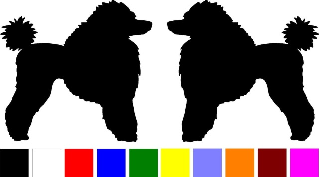 640x355 Hotmeini 2 Poodle Dog Breed Home Windows Silhouette Vinyl Decals