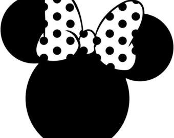 340x270 Minnie Mouse Head Silhouette Walt Disney Disneyland World