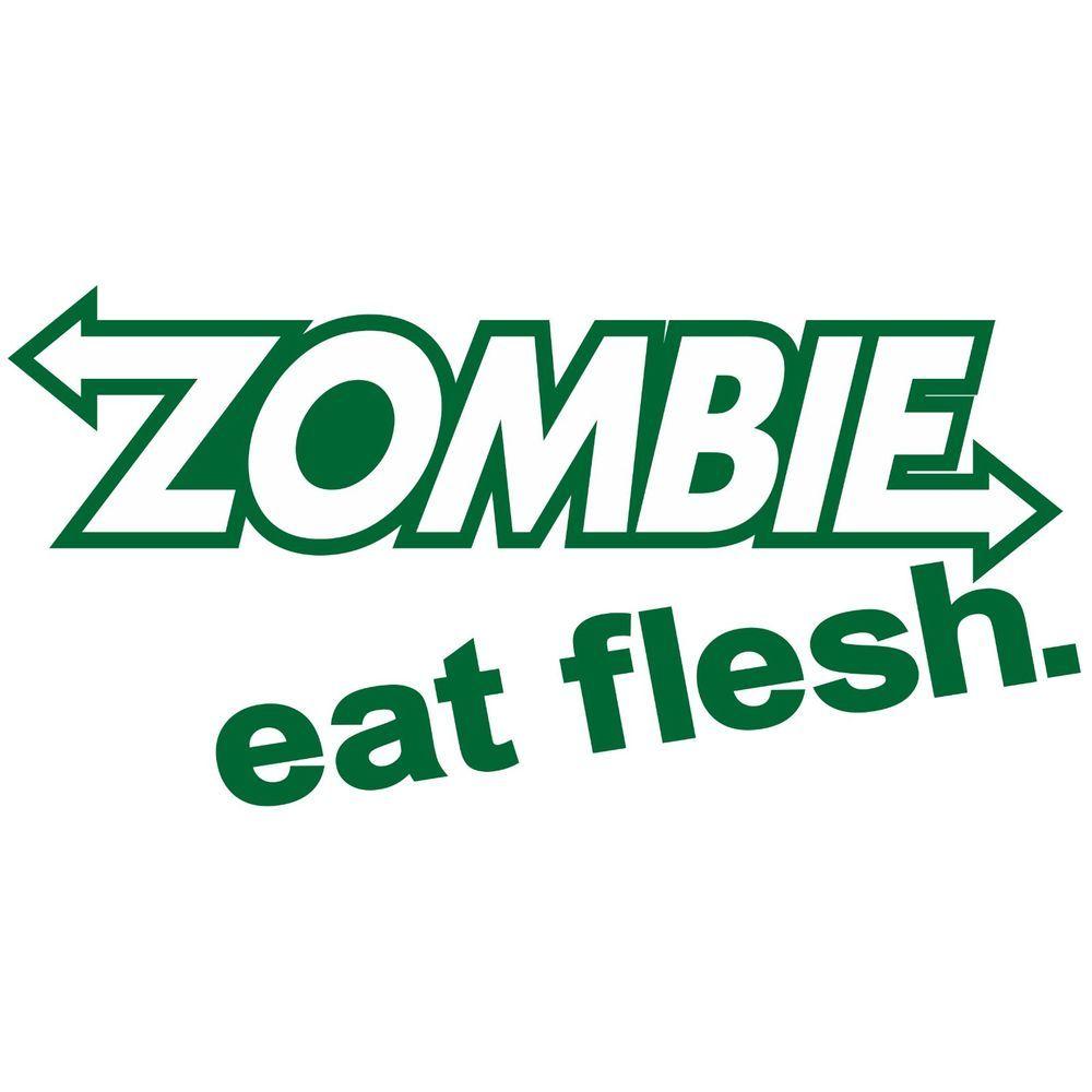 1000x1000 Zombie Eat Flesh Sticker Car Truck Decal Vinyl Window Laptop