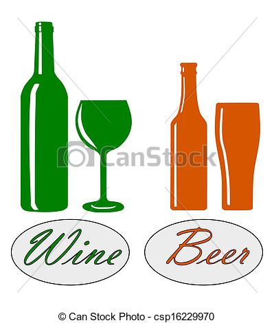 399x470 Wine And Beer. Wine And Beer Silhouette