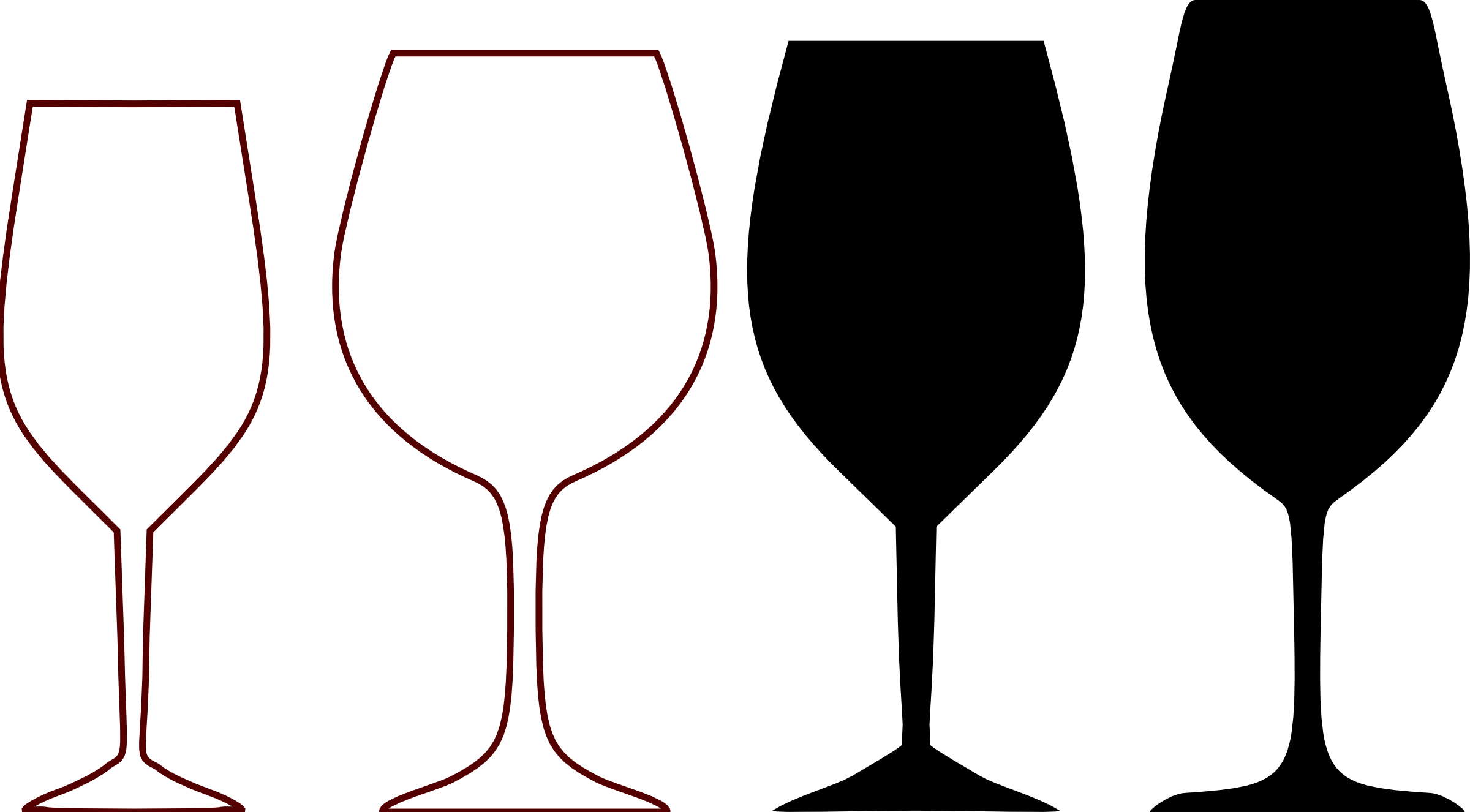 2400x1326 Wine Clipart Silhouette