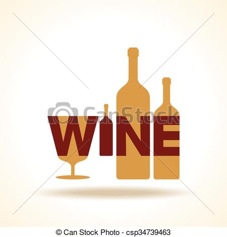 450x470 Wine Glass Bottle Logo Silhouette In Vector Format Clip Art Vector