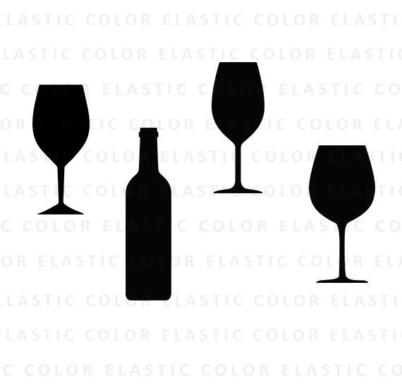 570x550 Wine Glass Svg Wine Glasses Clipart Vector Wine Bottle
