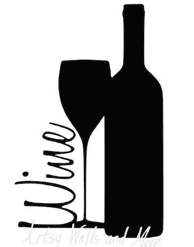 393x500 Svg Png File Wine Glass Wine Bottle Wine Glass Clipart Cut File