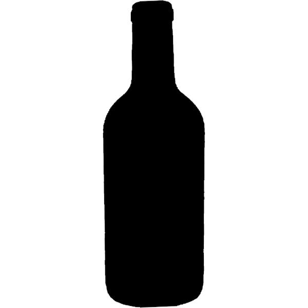 600x600 Wine Bottle Silhouette Wall Chalk Board