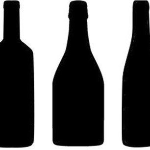 306x306 Wine Bottle Shape Silhouettes From Left To Right Bordeaux