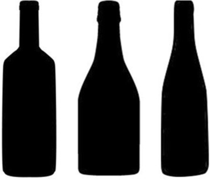 850x727 Wine Bottle Shape Silhouettes From Left To Right Bordeaux